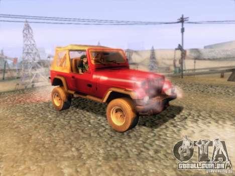 Jeep Wrangler 1994 para GTA San Andreas vista direita
