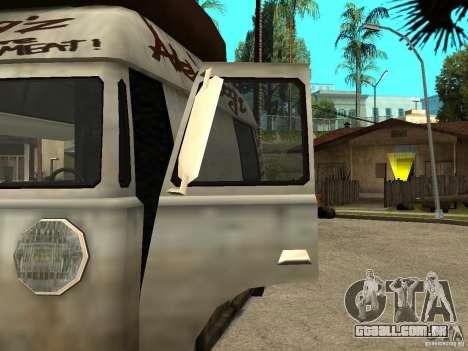 Limpar o vidro no cachorro-quente-e para GTA San Andreas esquerda vista