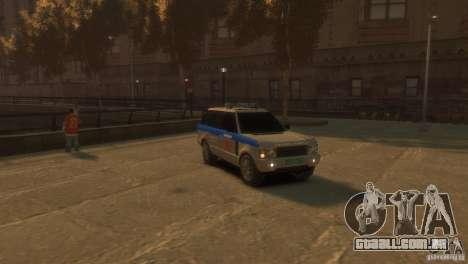 Land Rover Range Rover Police para GTA 4 vista direita