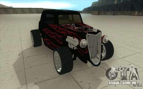 Ford Hot Rod 1934 v2 para GTA San Andreas vista traseira