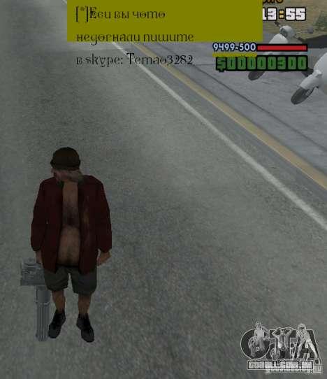 Weapon hacks para GTA San Andreas por diante tela