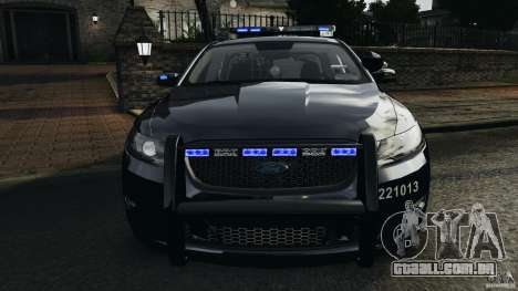 Ford Taurus 2010 Atlanta Police [ELS] para GTA 4 vista superior