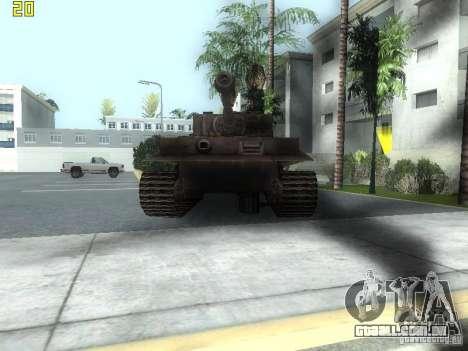 Tiger para GTA San Andreas esquerda vista