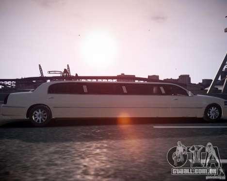 Lincoln Town Car Limousine para GTA 4 vista direita