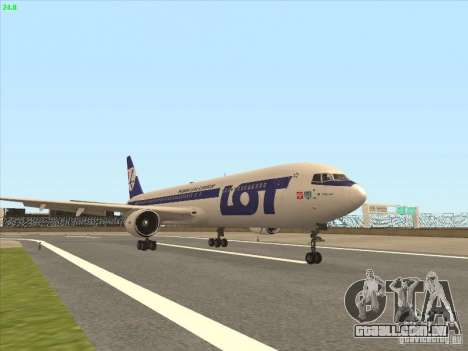 Boeing 767-300 LOT Polish Airlines para GTA San Andreas esquerda vista