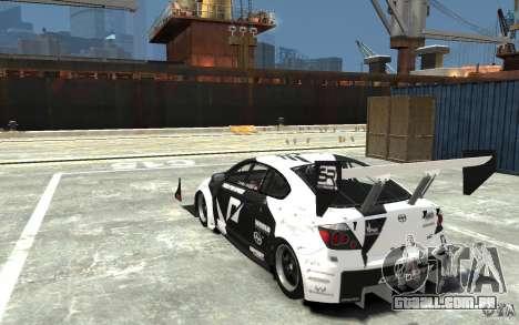 Scion tC AWD V1.0 para GTA 4 traseira esquerda vista