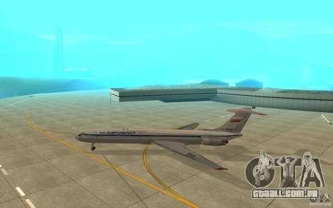 Aeroflot Il-62 m para GTA San Andreas traseira esquerda vista