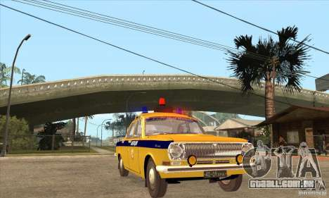 GAZ Volga 2401 polícia para GTA San Andreas vista traseira