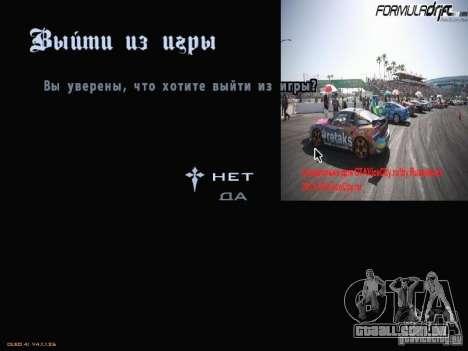Fórmula Drift-estilo menu para GTA San Andreas