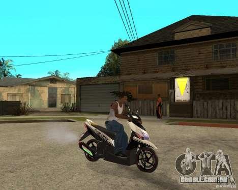 Honda Click para GTA San Andreas vista direita