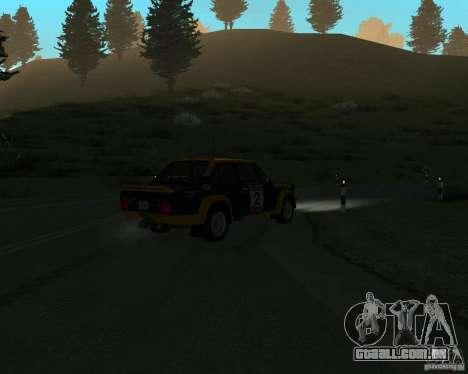 Fiat 131 Rally para GTA San Andreas vista interior