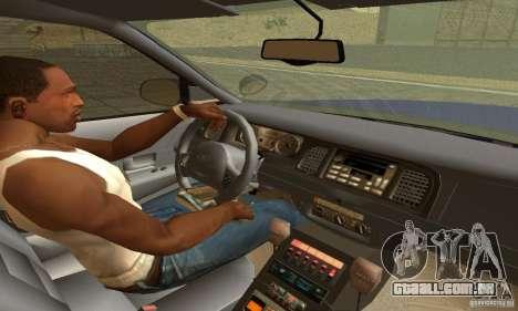 Ford Crown Victoria New York Police para GTA San Andreas traseira esquerda vista