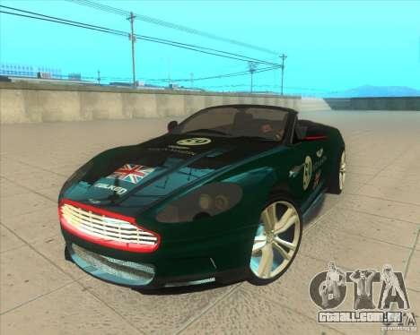 Aston Martin DBS Volante 2009 para GTA San Andreas vista superior