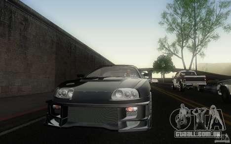 Toyota Supra Chargespeed para vista lateral GTA San Andreas