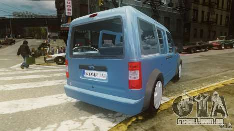 Ford Connect 2007 para GTA 4 traseira esquerda vista