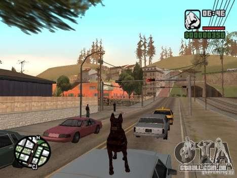Cerberus de Resident Evil 2 para GTA San Andreas quinto tela