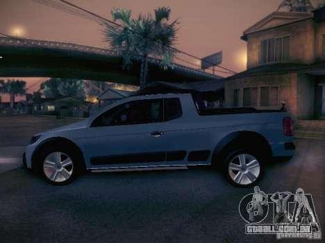 Volkswagen Saveiro Cross para GTA San Andreas esquerda vista