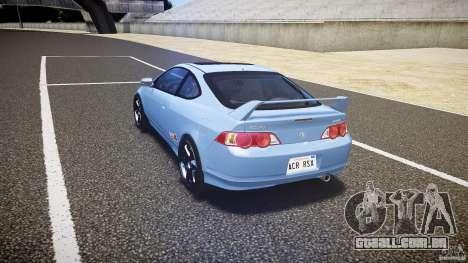 Acura RSX TypeS v1.0 Volk TE37 para GTA 4 traseira esquerda vista