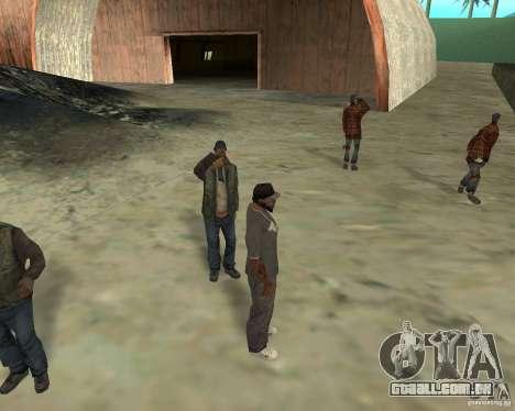Barney sem-teto para GTA San Andreas por diante tela