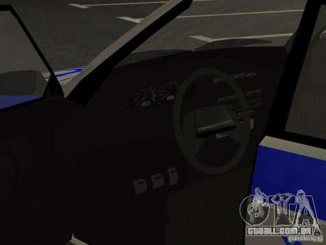 ВАЗ 2114 polícia para vista lateral GTA San Andreas