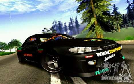 Nissan Silvia S15 Drift Works para GTA San Andreas traseira esquerda vista