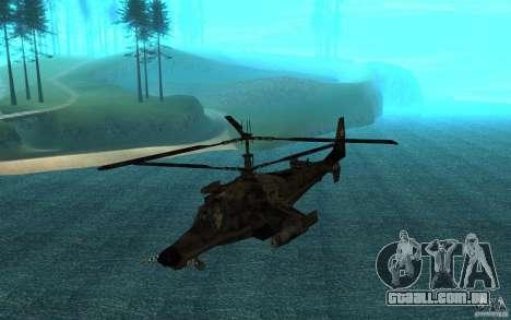 Kamov KA 50 Dlack Shark para GTA San Andreas