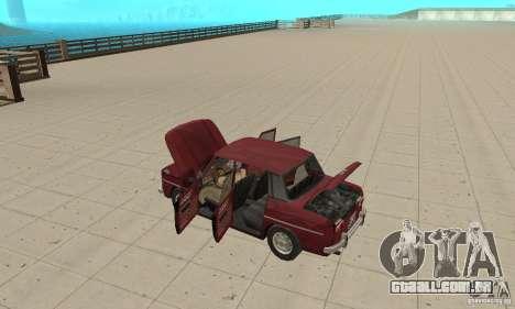 Dacia 1100 para GTA San Andreas vista interior