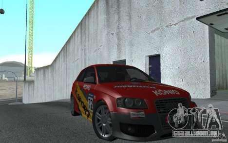 Audi S3 Tunable para GTA San Andreas vista traseira