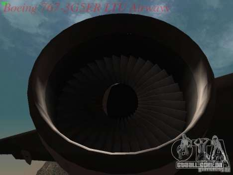 Boeing 767-3G5ER LTU Airways para GTA San Andreas vista interior