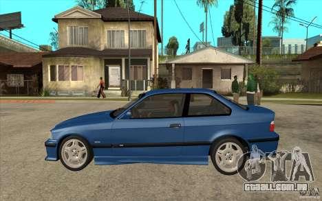 BMW M3 E36 1997 para GTA San Andreas esquerda vista