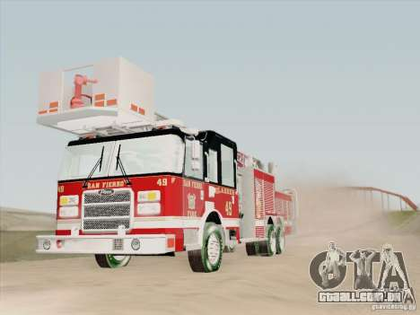 Pierce Rear Mount SFFD Ladder 49 para GTA San Andreas