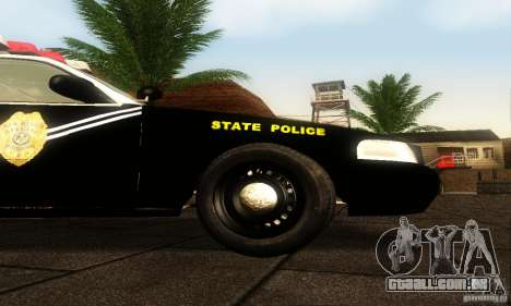 Ford Crown Victoria New Mexico Police para GTA San Andreas vista direita