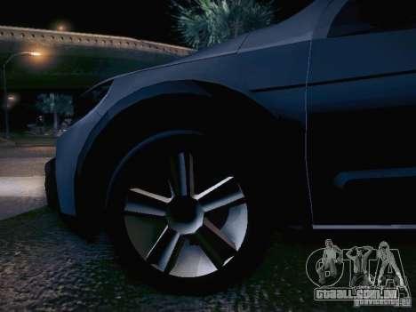 Volkswagen Saveiro Cross para GTA San Andreas vista inferior