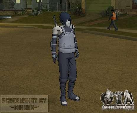 Pele Sasuke Anbu para GTA San Andreas segunda tela