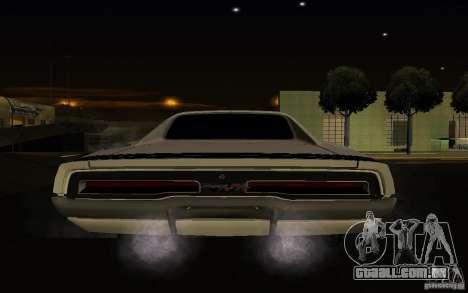 Dodge Charger R/T para GTA San Andreas vista traseira