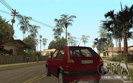 VW Golf Mk2 GTI para GTA San Andreas traseira esquerda vista
