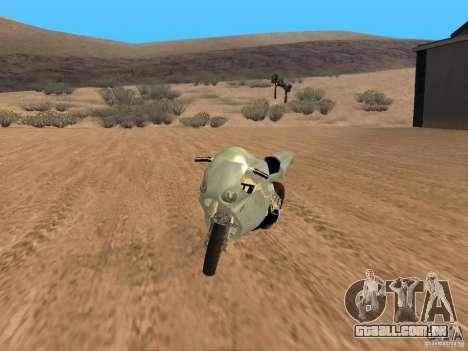 Turbine Superbike para GTA San Andreas vista traseira