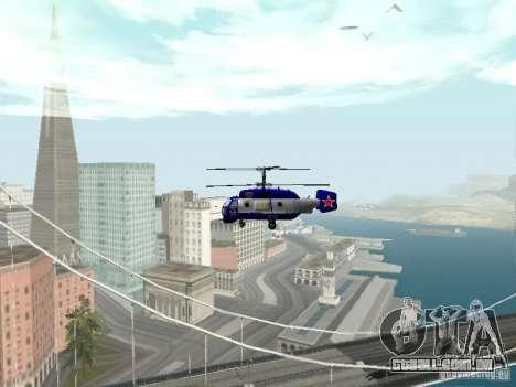 Ka-27 para GTA San Andreas vista interior