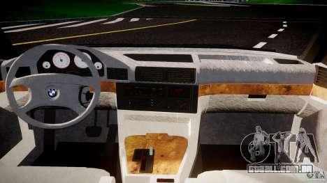 BMW 5 Series E34 540i 1994 v3.0 para GTA 4 vista de volta