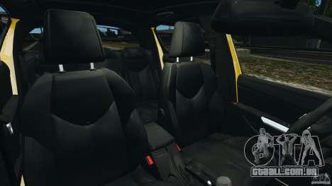 Peugeot 308 GTi 2011 Taxi v1.1 para GTA 4 vista interior