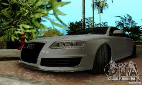 Audi RS6 2009 para GTA San Andreas vista inferior