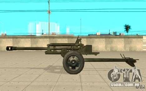 A arma do ZiS-3 para GTA San Andreas esquerda vista