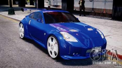 Nissan 350Z Veilside Tuning para GTA 4 vista inferior