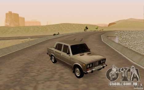 Dreno de 2106 VAZ para GTA San Andreas vista superior