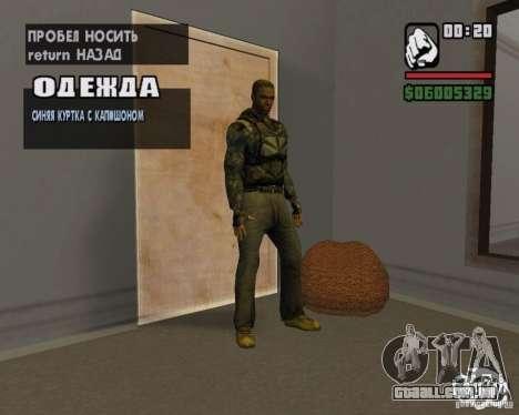 Roupas de um stalker para GTA San Andreas quinto tela