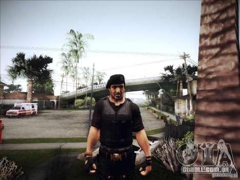 Os mercenários para GTA San Andreas por diante tela