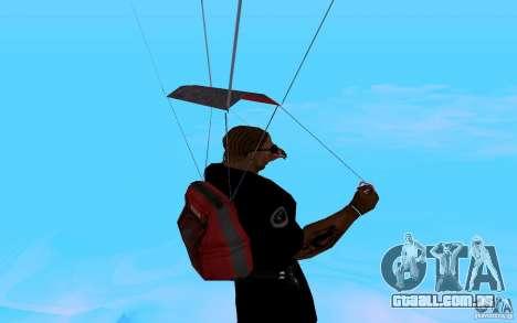 O novo pára-quedas para GTA San Andreas sexta tela