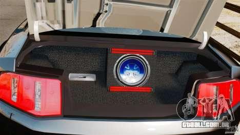 Ford Mustang 2010 GT1 para GTA 4 vista interior