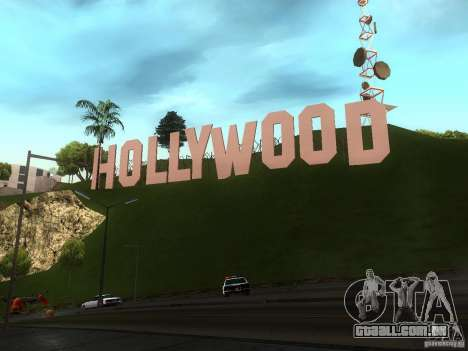 O letreiro de Hollywood para GTA San Andreas terceira tela
