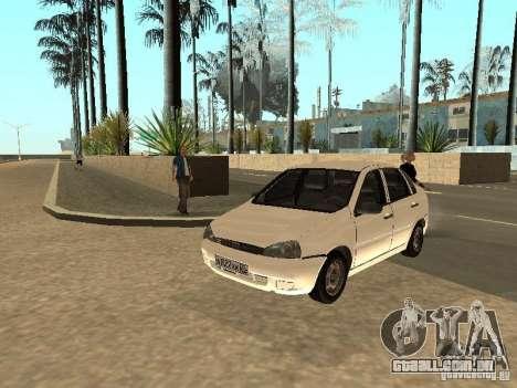 Lada Kalina para GTA San Andreas vista interior